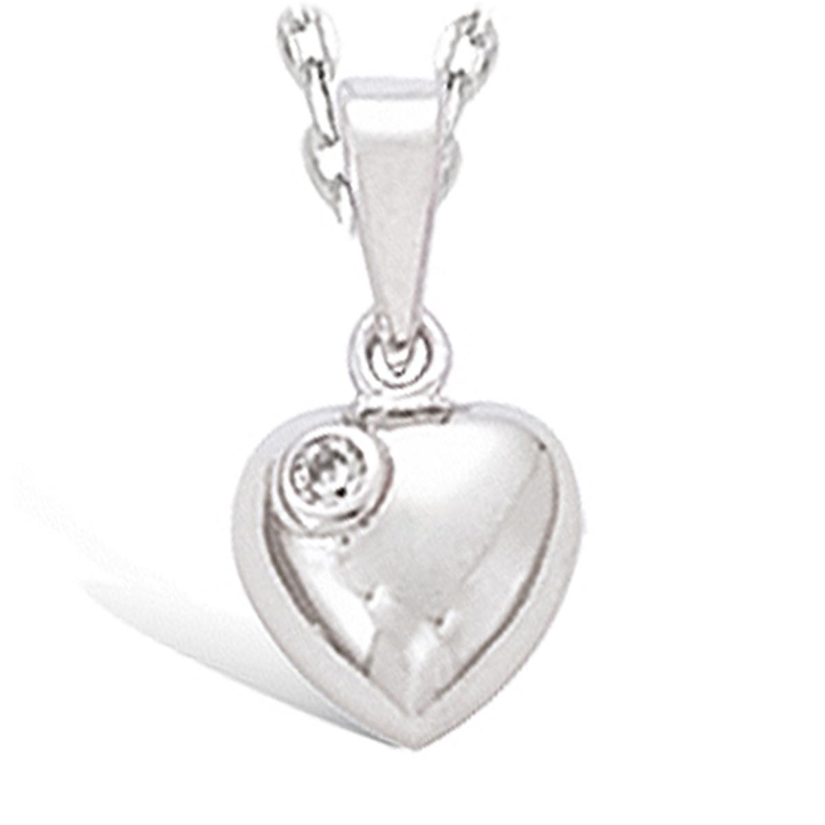 Pendentif Argent \'Love\' blanc argenté (rhodié) - 7x7 mm - [I4200]