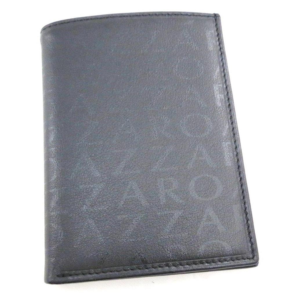 Portefeuille cuir \'Azzaro\' noir monogramme (européen) - [J4377]