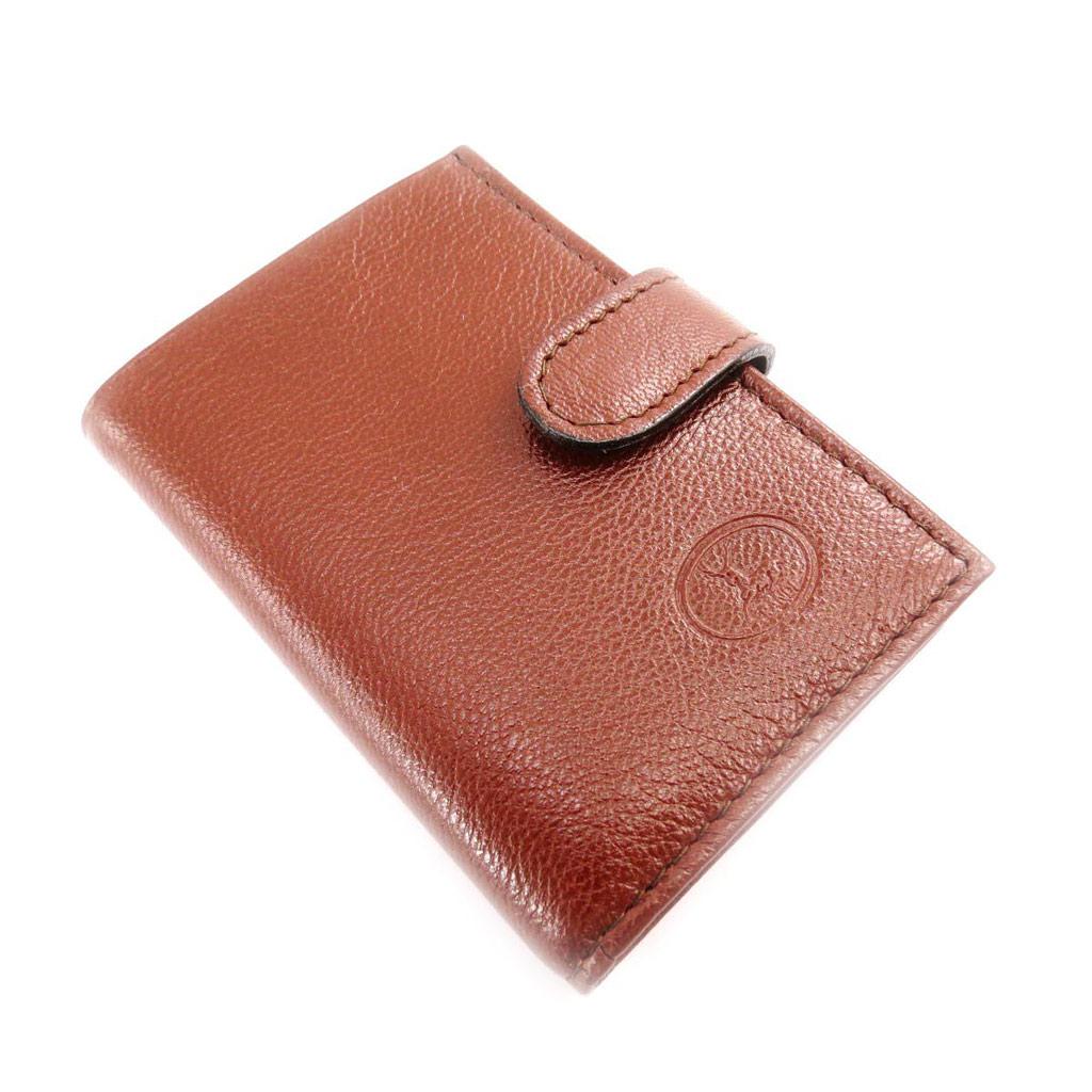 Porte-cartes Cuir \'Frandi\' cognac (chèvre) - [J4431]