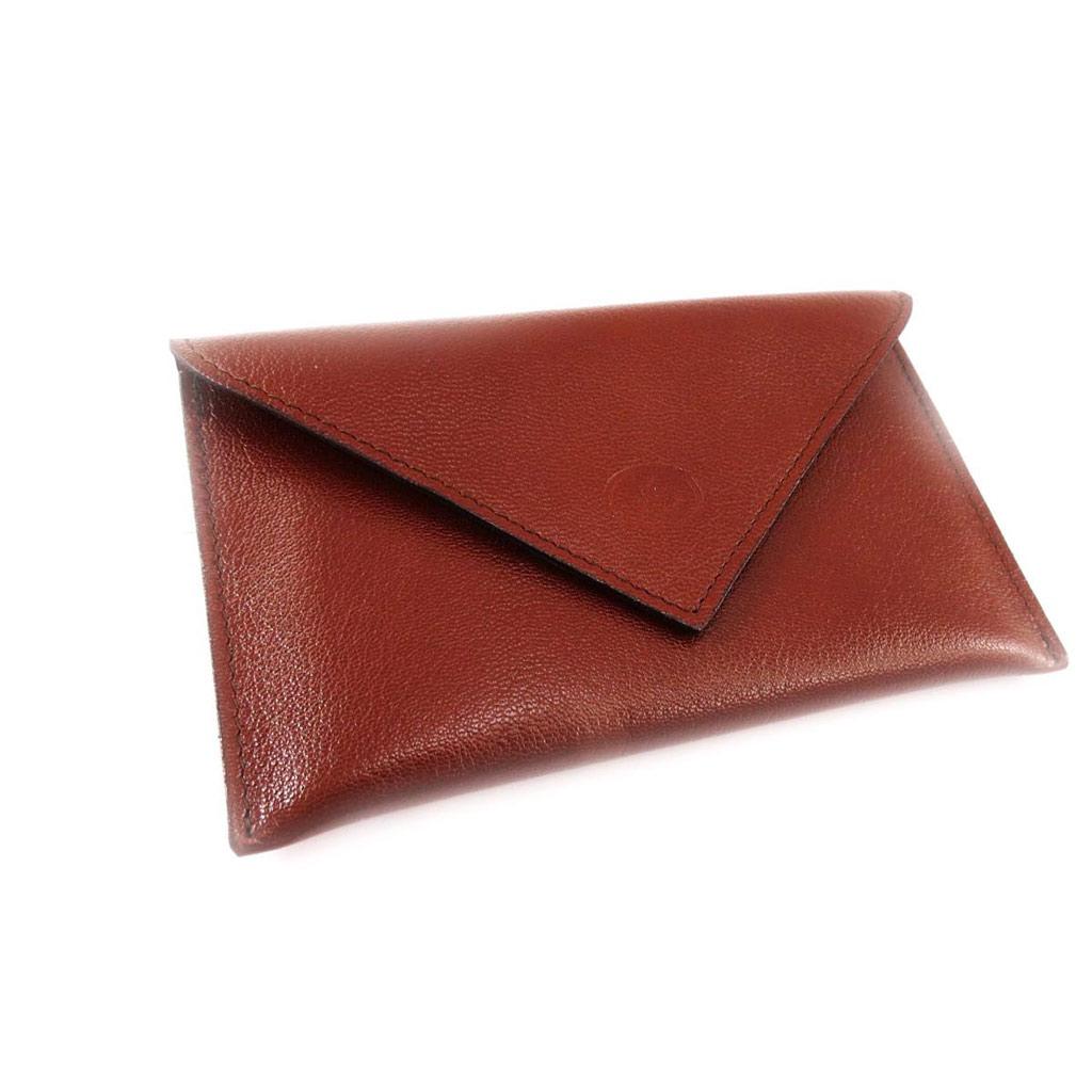 Porte Papiers de voiture Cuir \'Frandi\' cognac (chèvre) (ultra plat) - [J4443]