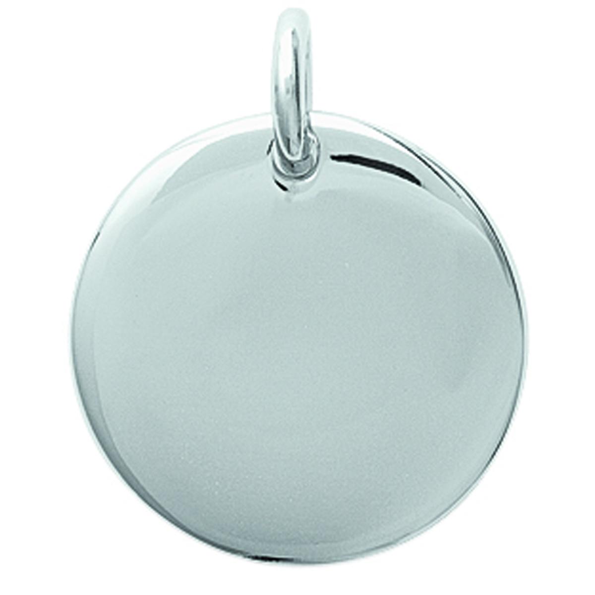 Pendentif \'Médaille Ronde\' personnalisable - 20 mm - [H6228]