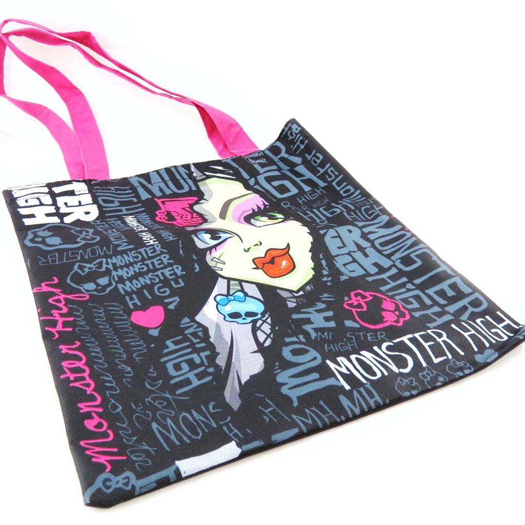 Sac shopping \'Monster High\' noir bleu rose - [J4537]