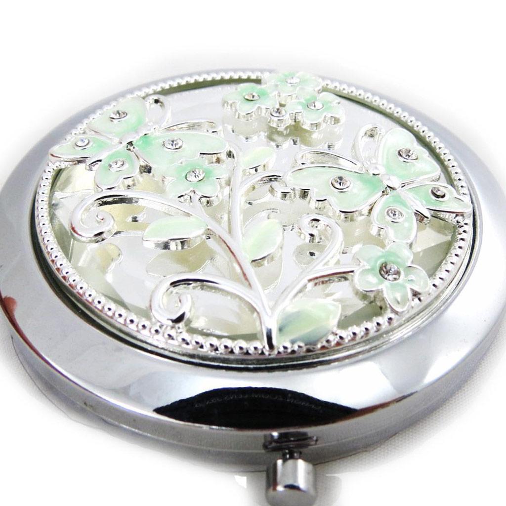 Miroir Créateur \'Papillon de Soie\' vert - [J4673]