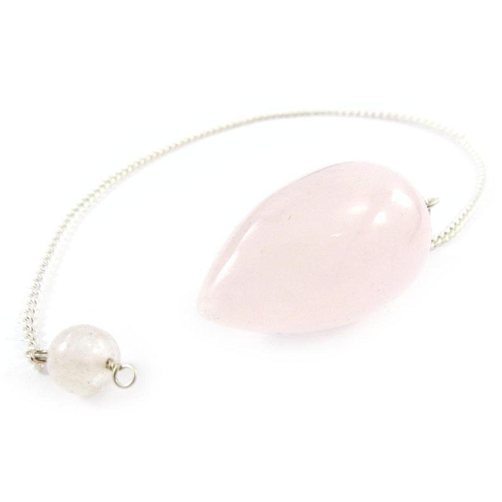 Pendule \'Mineralia\' quartz rose - [J4817]