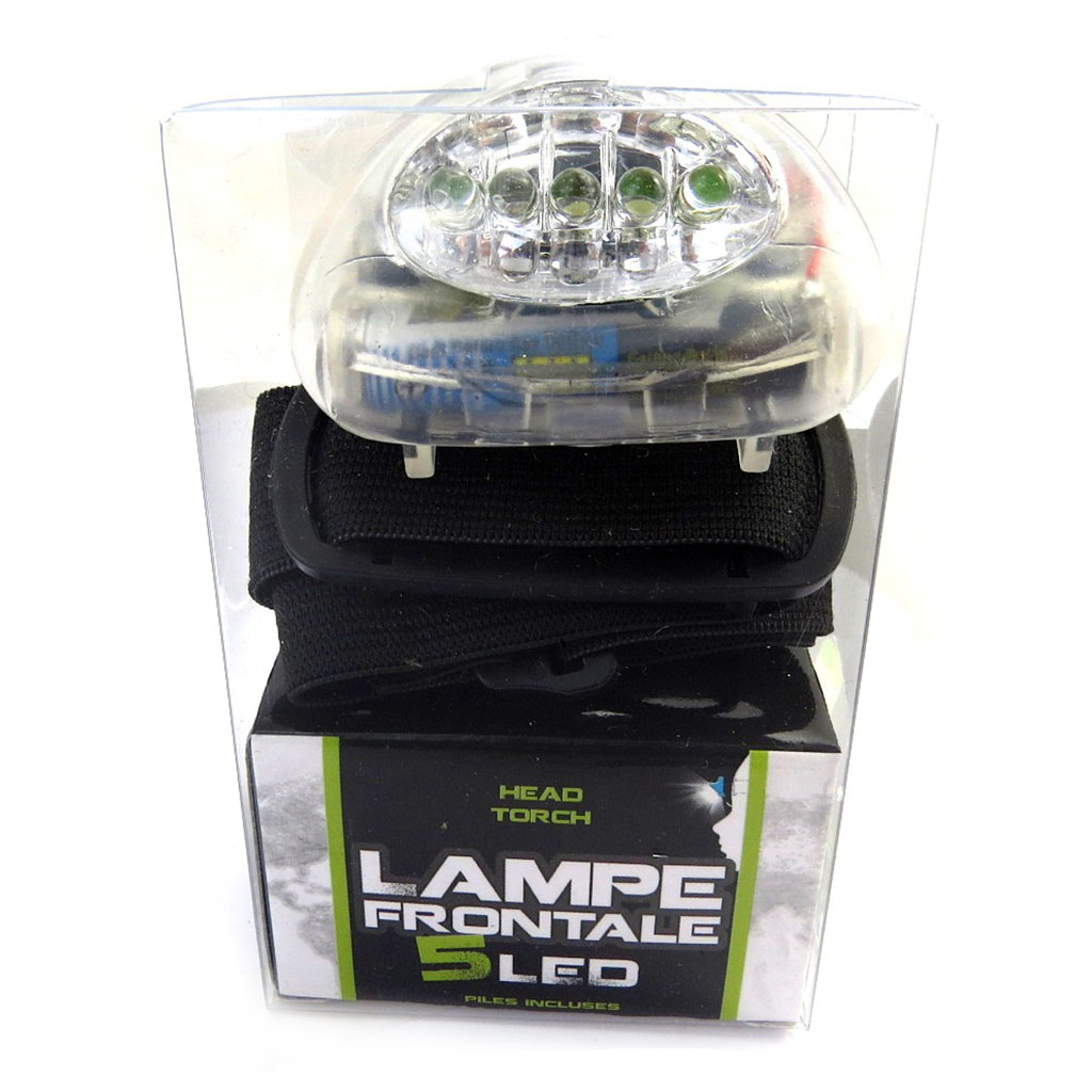 Lampe frontale \'Coloriage\' blanc (5 leds) - [M3940]
