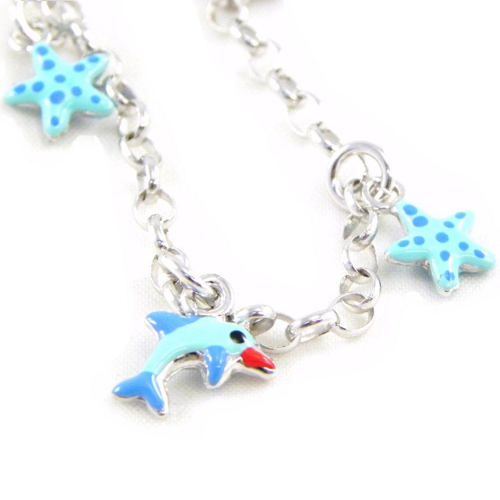 Bracelet Enfant \'Le Monde Marin\' turquoise S&B - [G6515]