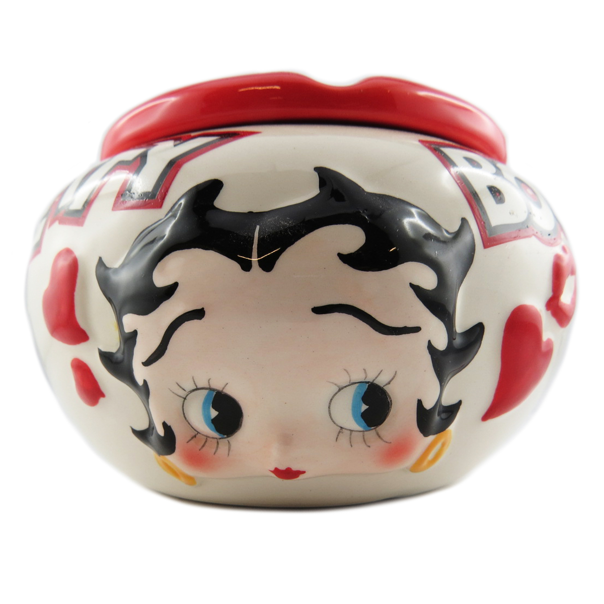 Cendrier marocain céramique \'Betty Boop\' rouge beige - 115x8 cm - [R1522]