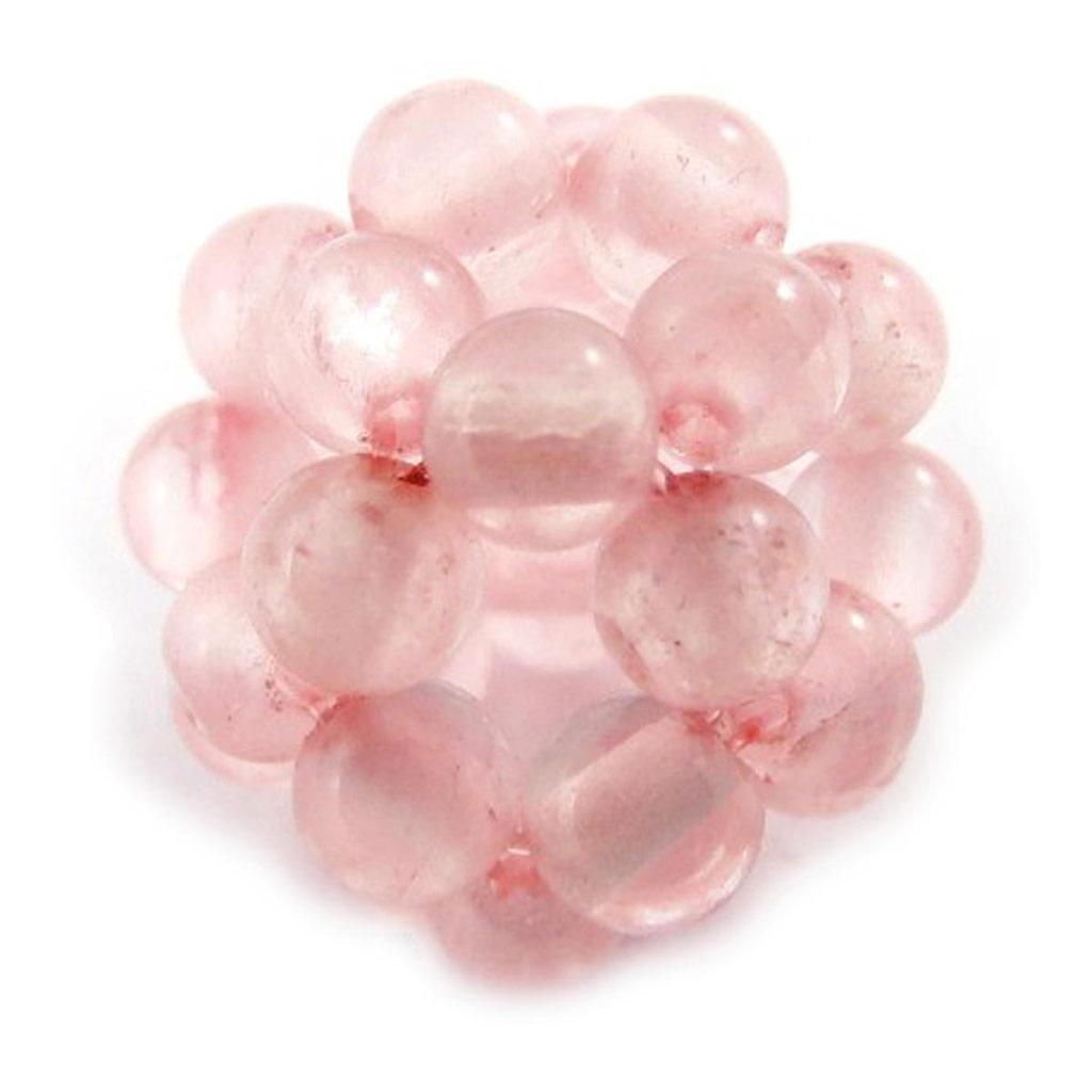 Pendentif \'Mineralia\' quartz rose 14 mm - [J5317]