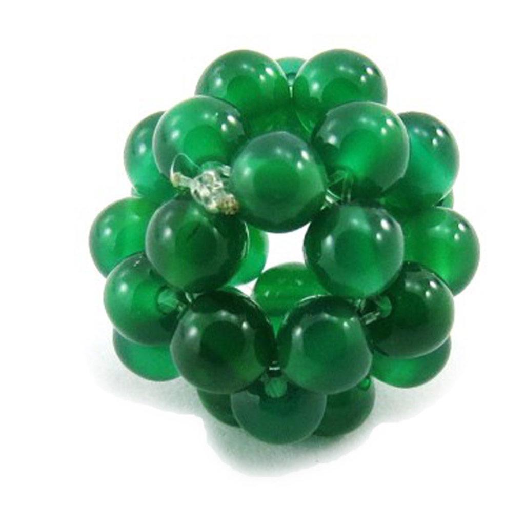 Pendentif \'Mineralia\' vert 14 mm - [J5319]