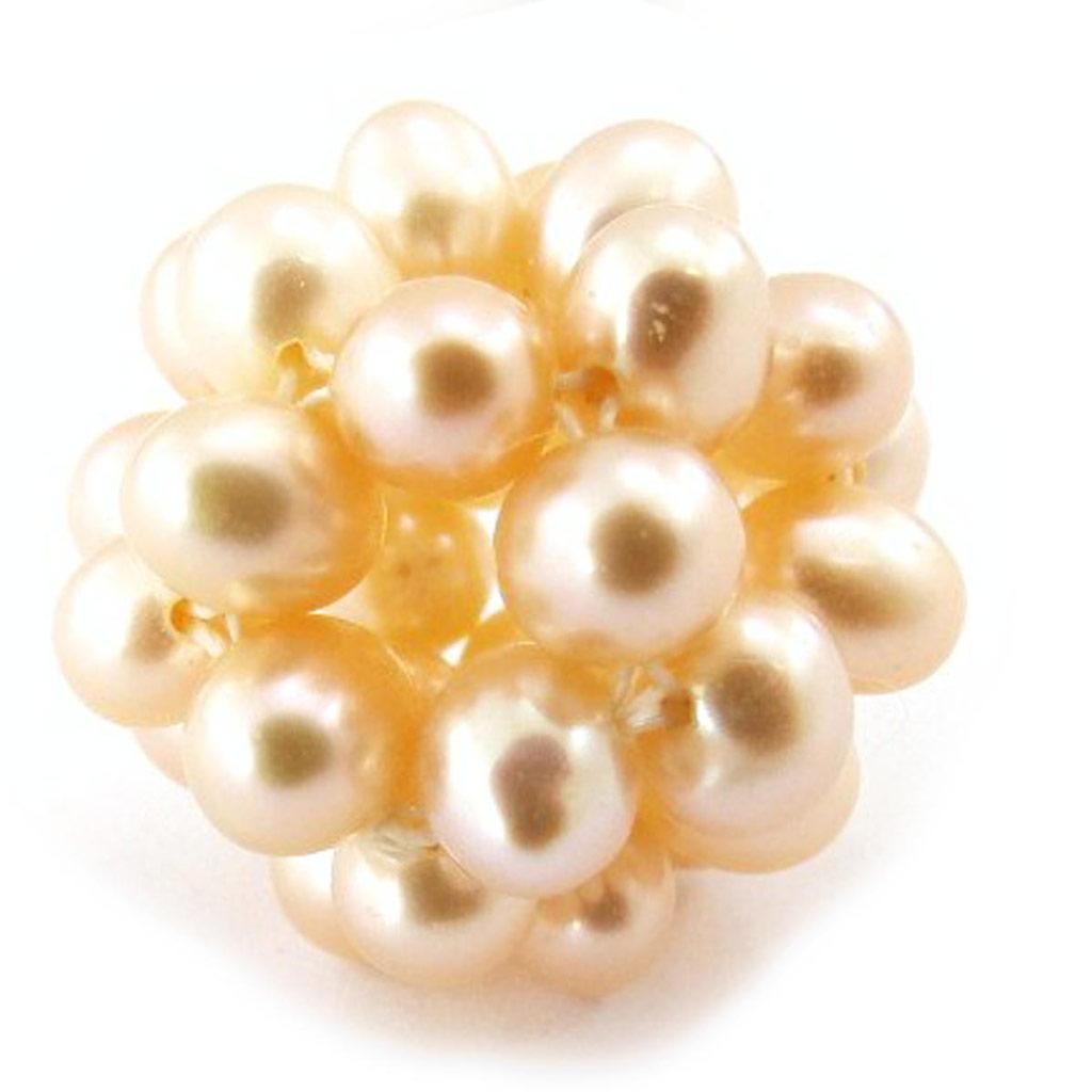 Pendentif \'Tourbillon de Perles\' nacré orange 16 mm - [J5324]