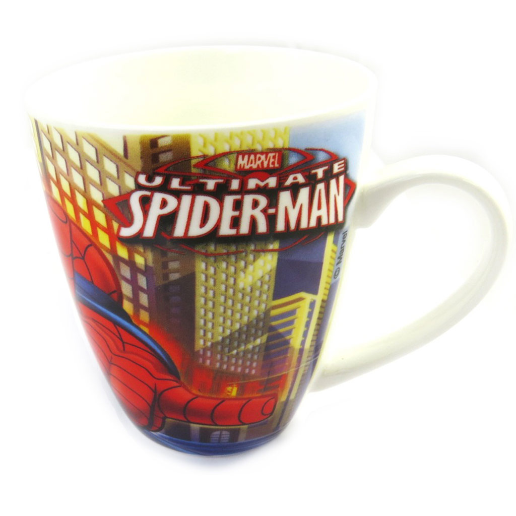 Mug porcelaine \'Spiderman\' rouge bleu - [M4214]
