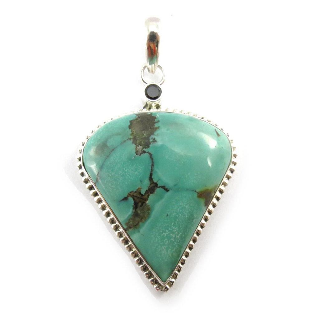 Pendentif Argent \'Hatari\' turquoise - [J5440]