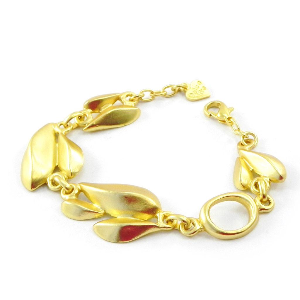 Bracelet Créateur \'Antica\' doré  - [I5509]