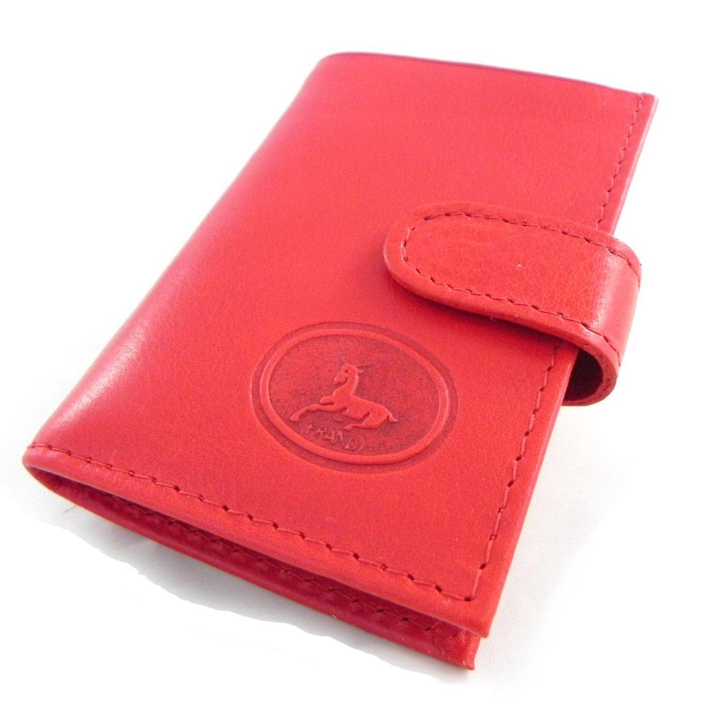Porte-cartes Cuir \'Frandi\' rouge dakota - [H6709]
