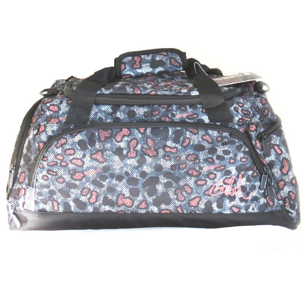 Sac de voyage \'Gabol\' noir gris rose (515x265x23 cm) léopard - [M4449]