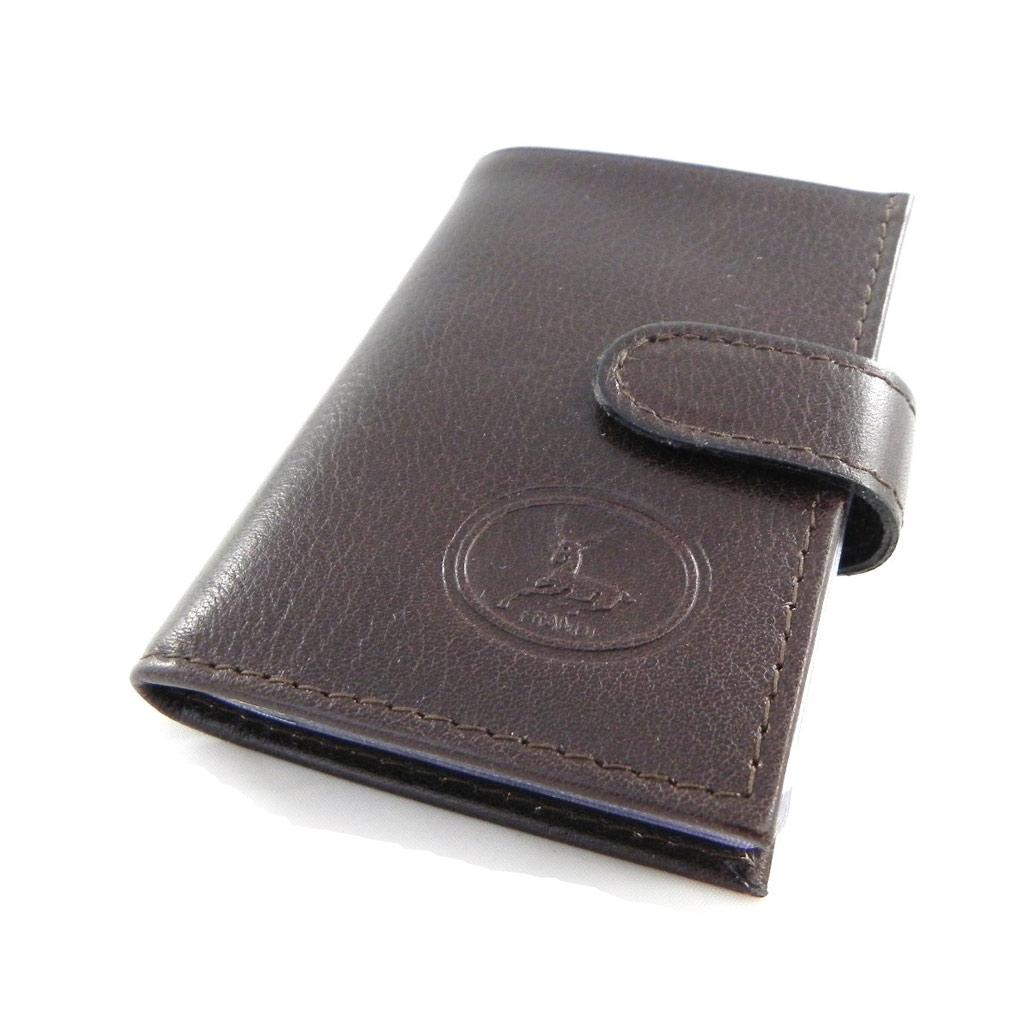 Porte-cartes Cuir \'Frandi\' marron dakota - [H6711]
