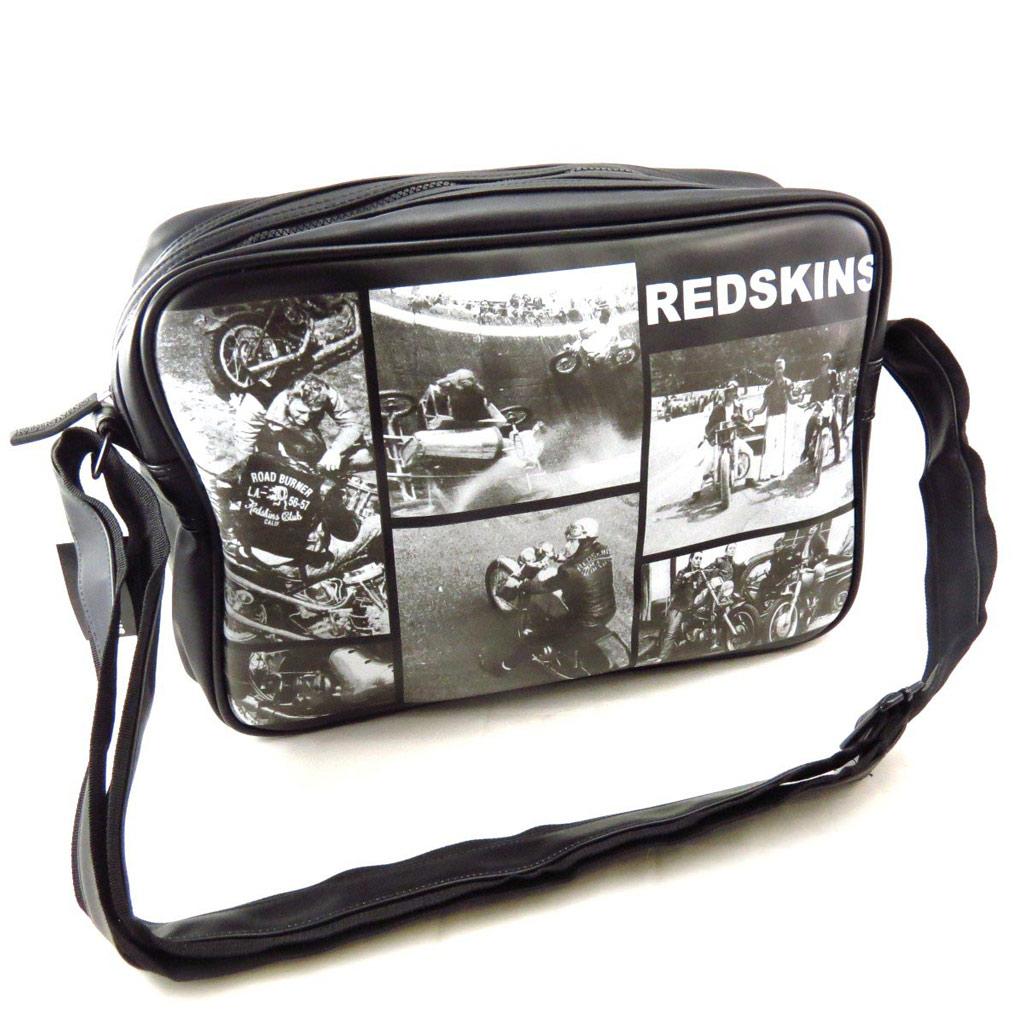 Sac bandoulière \'Redskins\' noir blanc vintage - [J5529]