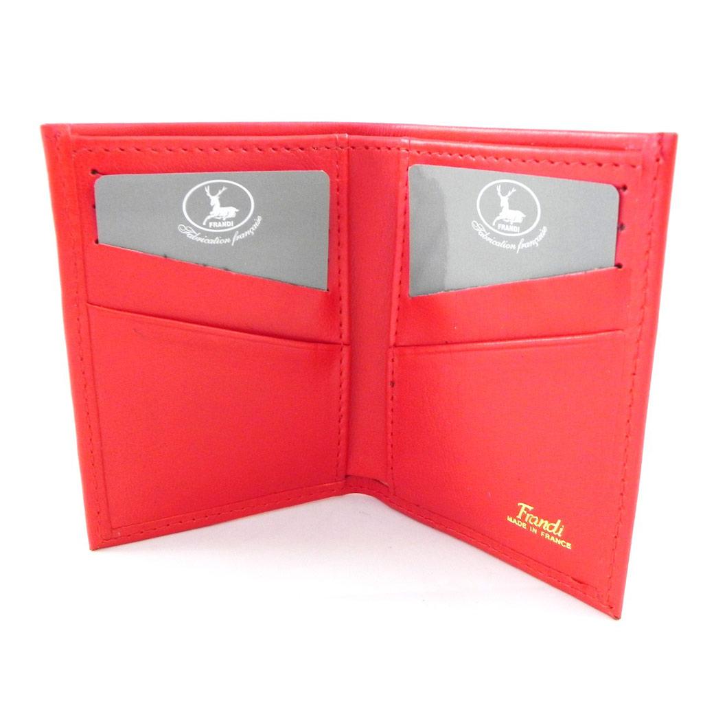 Porte-cartes Cuir \'Frandi\' rouge dakota - [H6735]