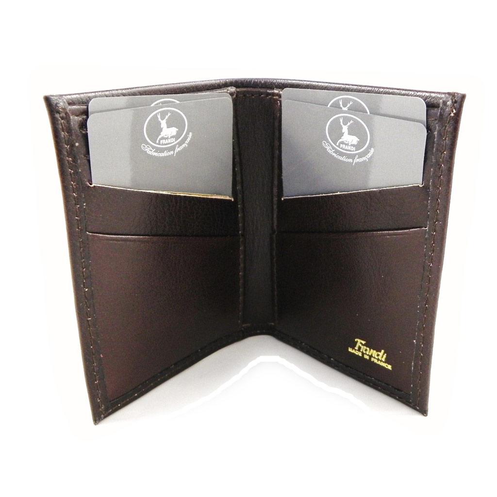 Porte-cartes Cuir \'Frandi\' marron dakota - [H6737]