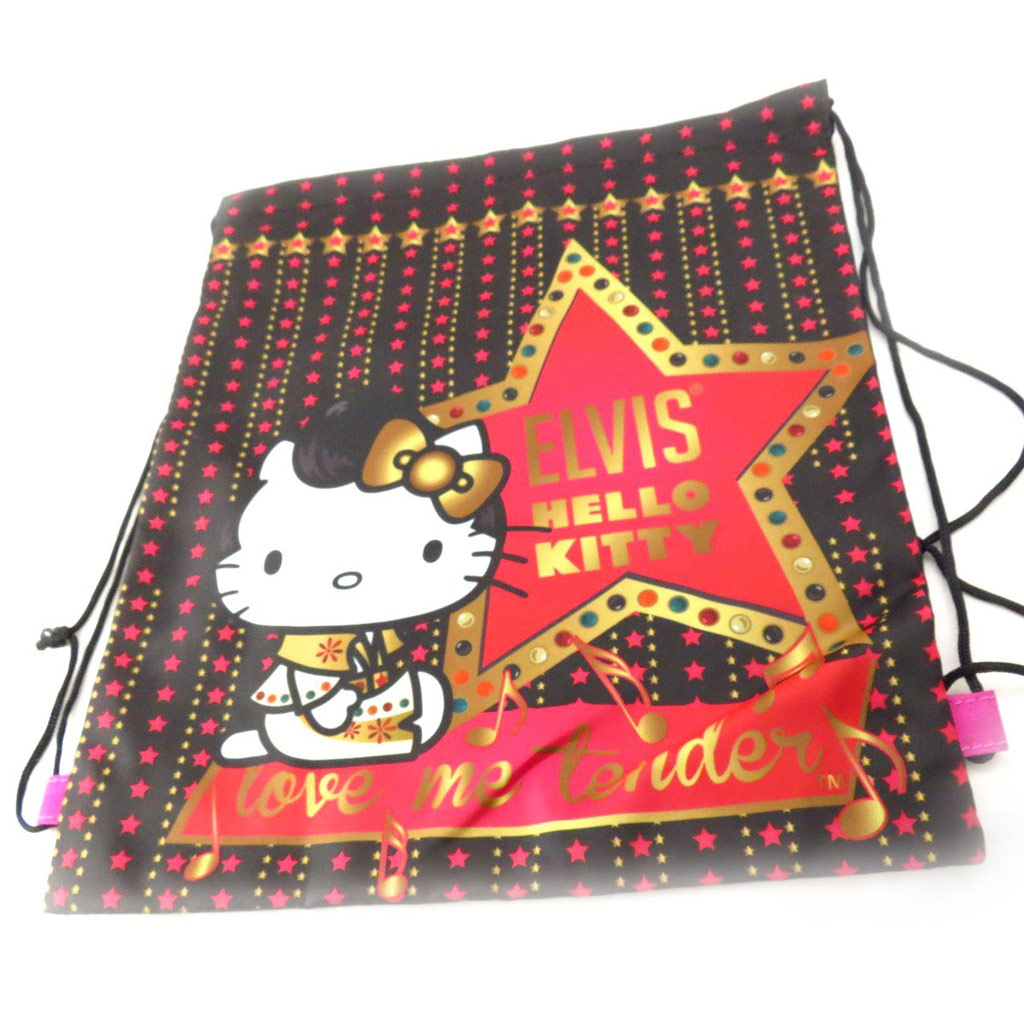 Sac de sport \'Hello Kitty\' noir - [J5559]