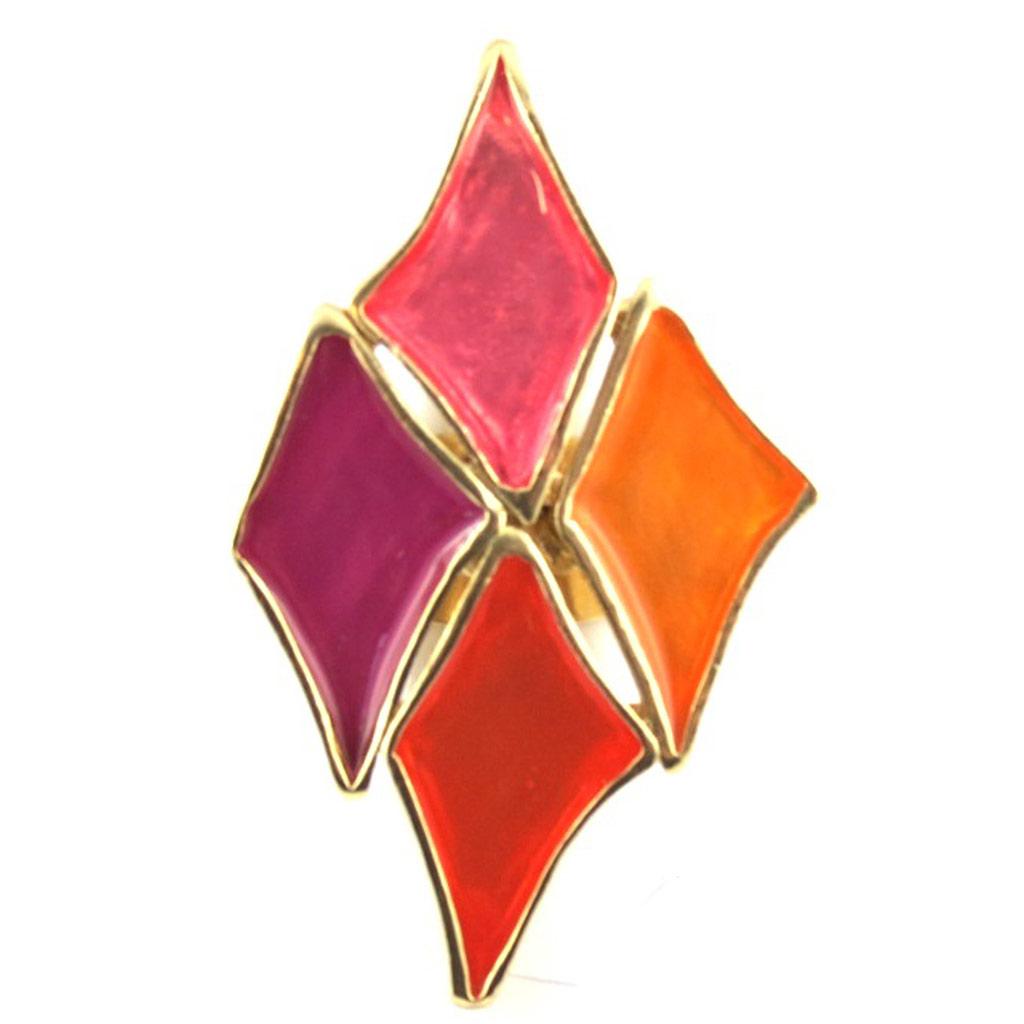 Bague Créateur \'Nora\' rose orange - [M4513]