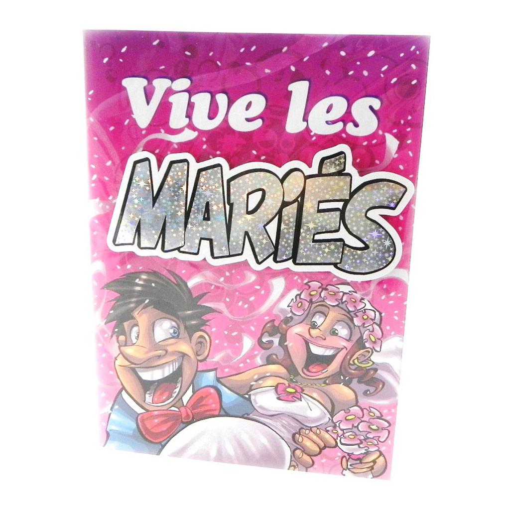 Carte événement \'Vive les Mariés\'  - [I5773]