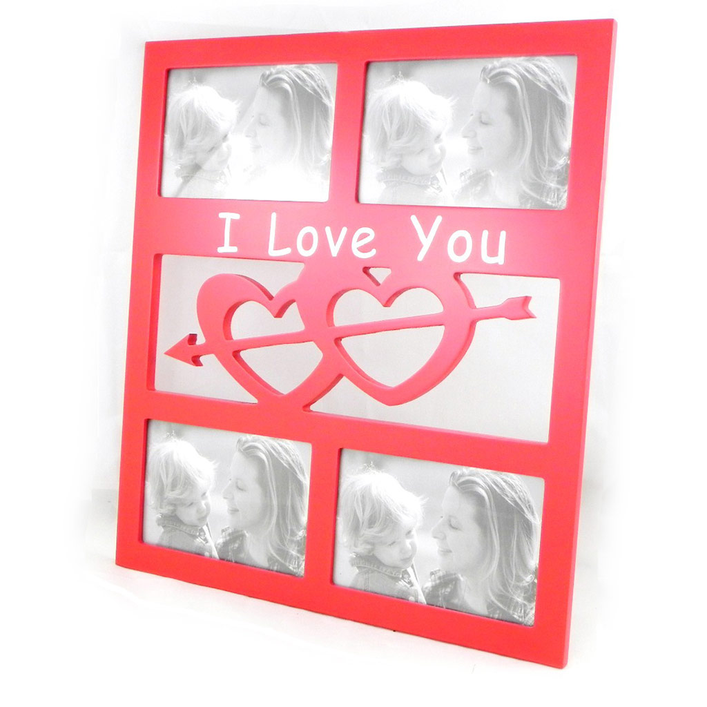 Pêle-Mêle \'I Love You\' bois rouge - [I5806]