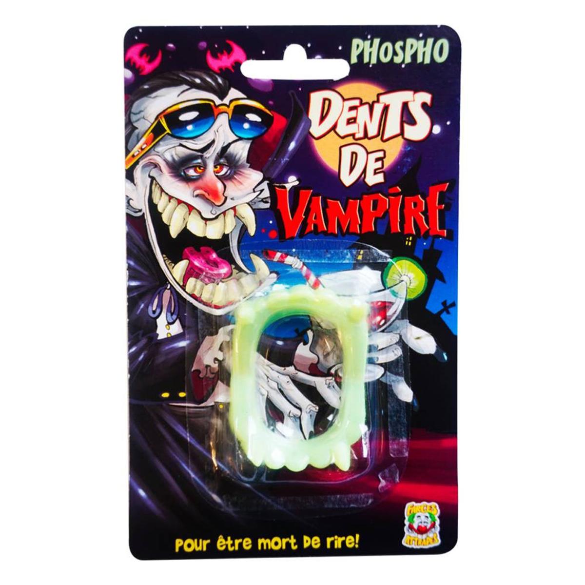 Fausses dents \'Vampire\' phosphorescent - [H6827]