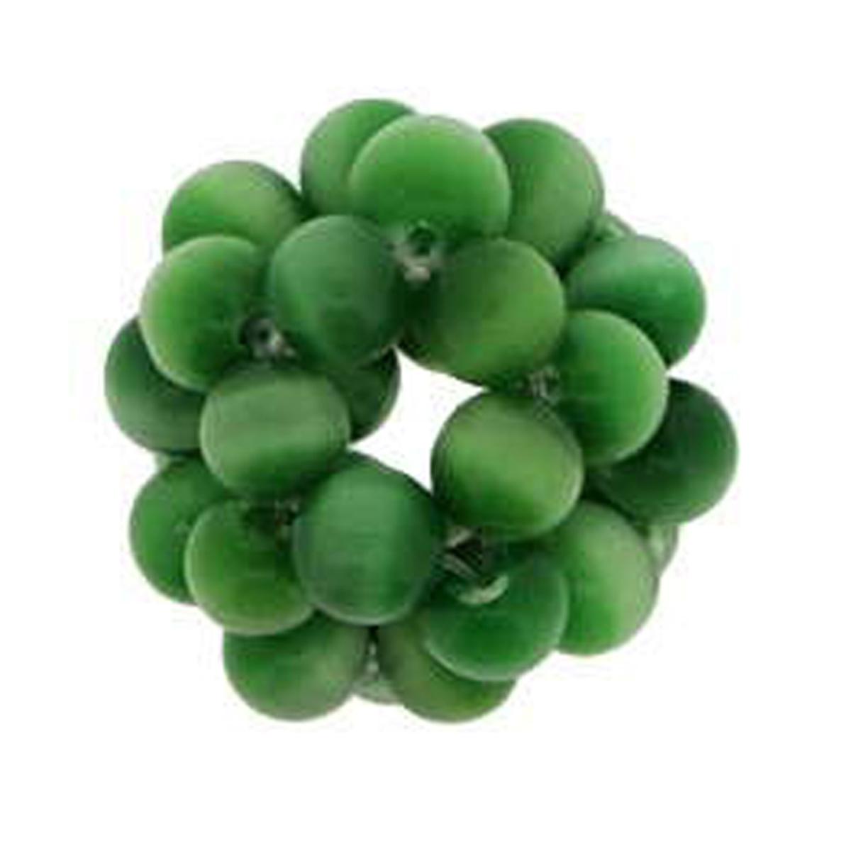 Pendentif \'Tourbillon de Perles\' oeil de chat vert - 16 mm - [R1727]