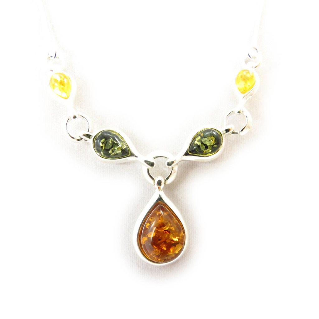 Collier \'Inspiration\' ambre (3 tons) - [J5679]