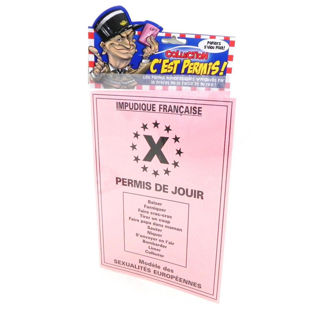 Carte spéciale \'Permis de jouir\' - 205x145 cm - [H6979]