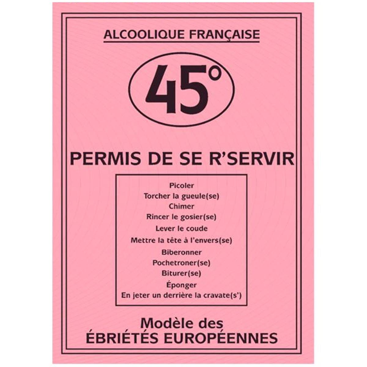 Carte spéciale \'Permis de s\'reservir\' - 205x145 cm - [H6980]