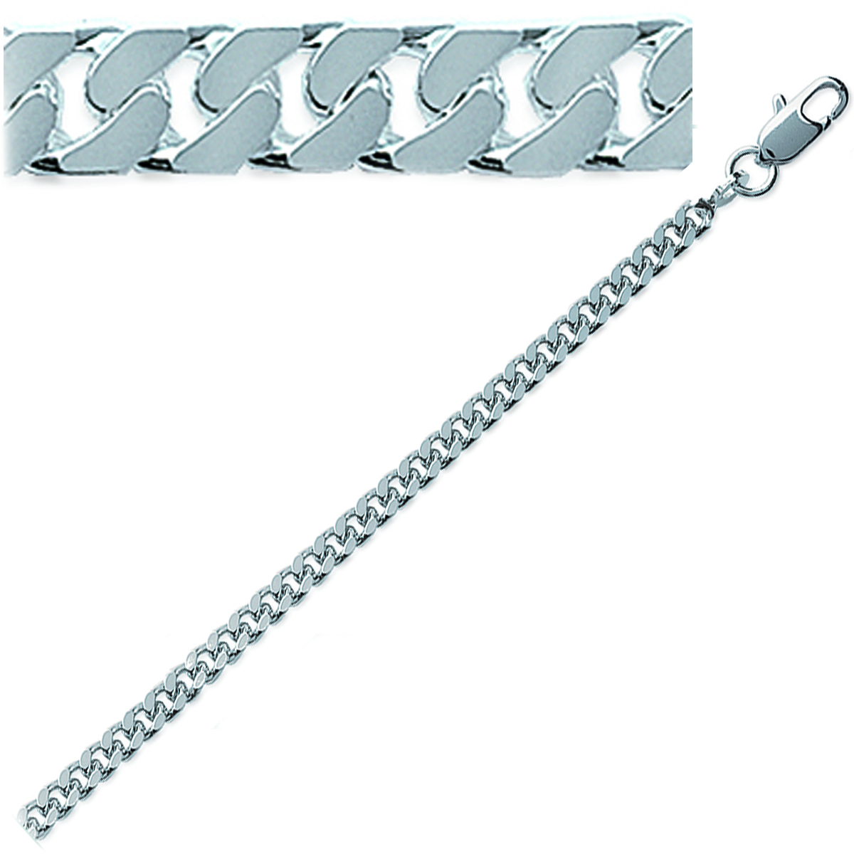 Chaine Argent \'Maille Gourmette\' 50 cm 32 mm - [G7843]