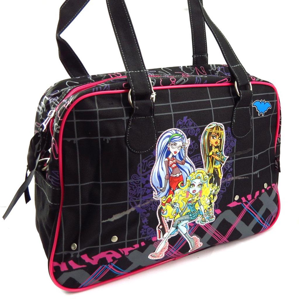 Sac cabas \'Monster High\' noir rose - [K4253]