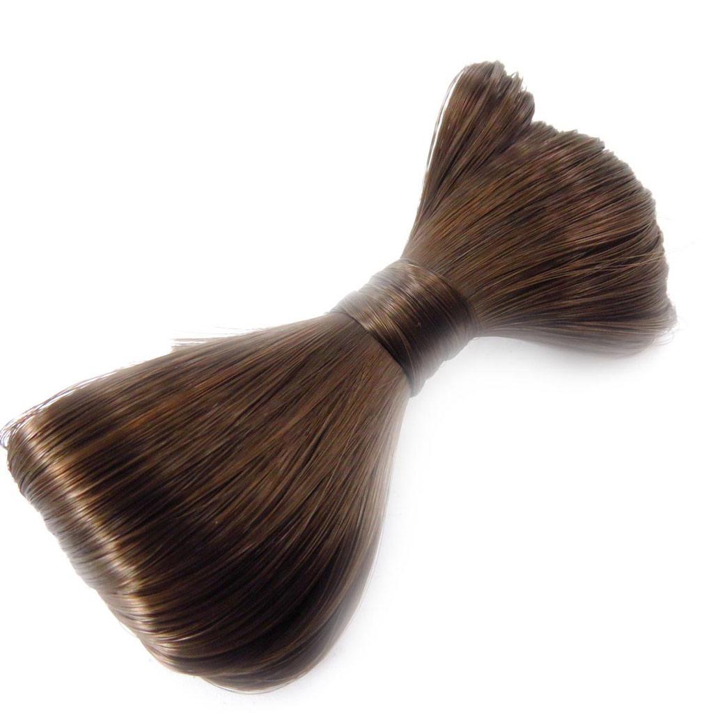 Barrette créateur \'Scarlett\' faux cheveux marron - [J5784]