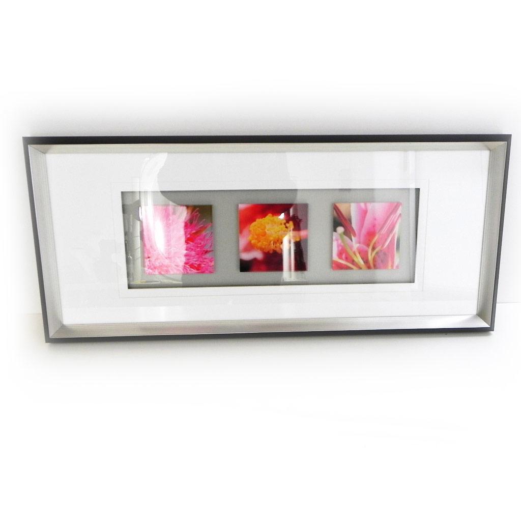Tableau Déco \'Jardin des Plantes\' rose blanc - [G8094]