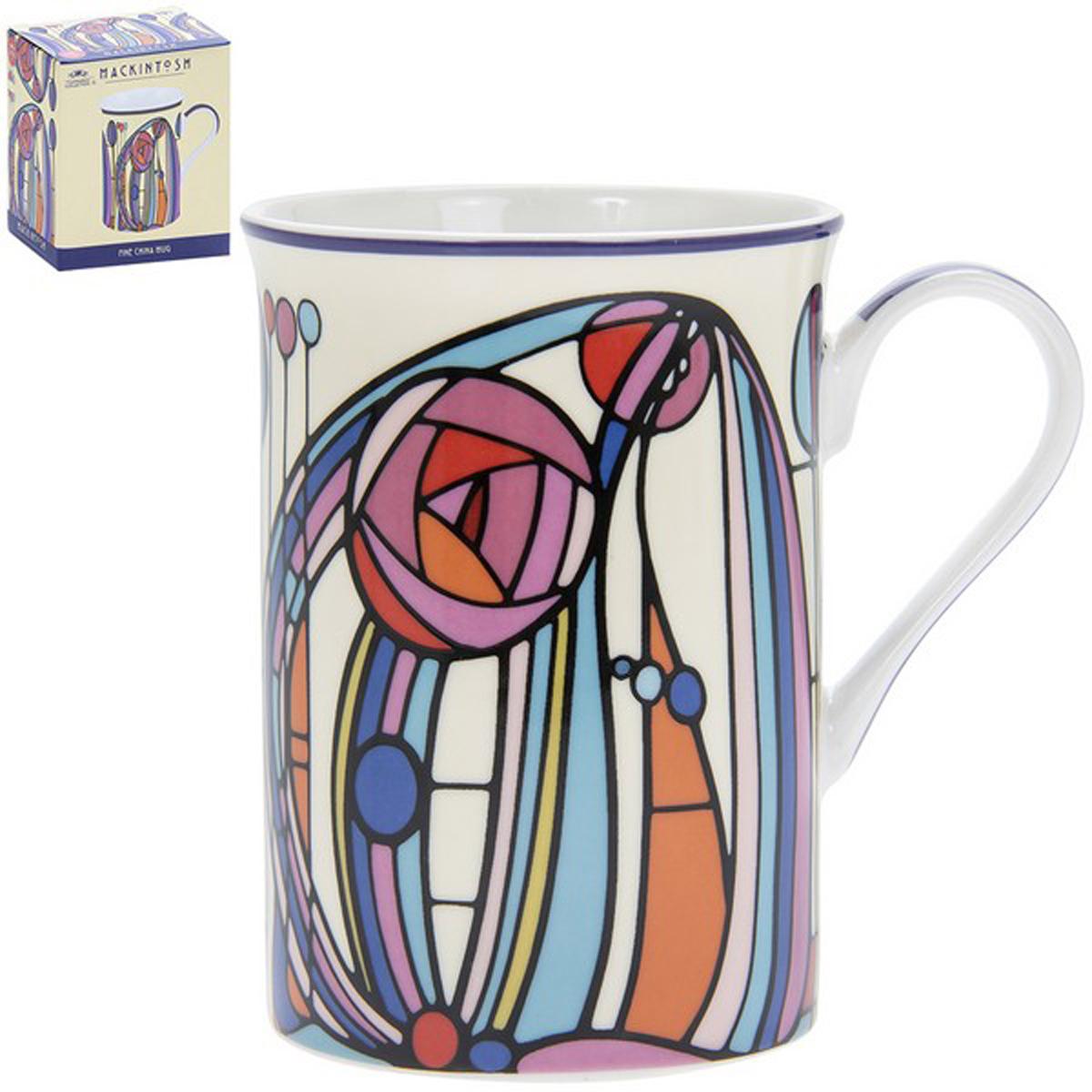 Mug porcelaine \'Mackintosh\' multicolore - 10x75 cm - [R1769]
