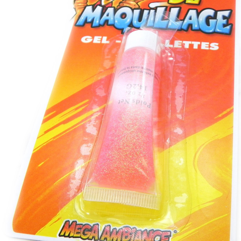 Tube de \'Maquillage Festif\' rose paillettes - [I6955]
