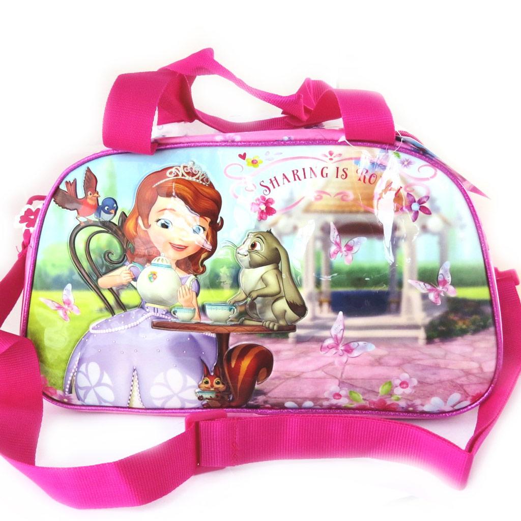 Sac de voyage enfant \'Princesse Sofia\' rose (40 cm) - [M4947]