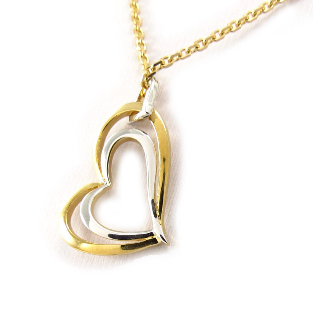 Collier Plaqué Or \'Love\' 2 tons - [K4525]