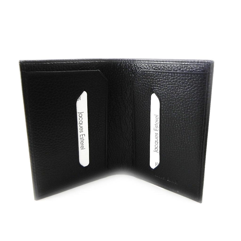 Porte papiers cuir \'Jacques Esterel\' noir - [I7208]