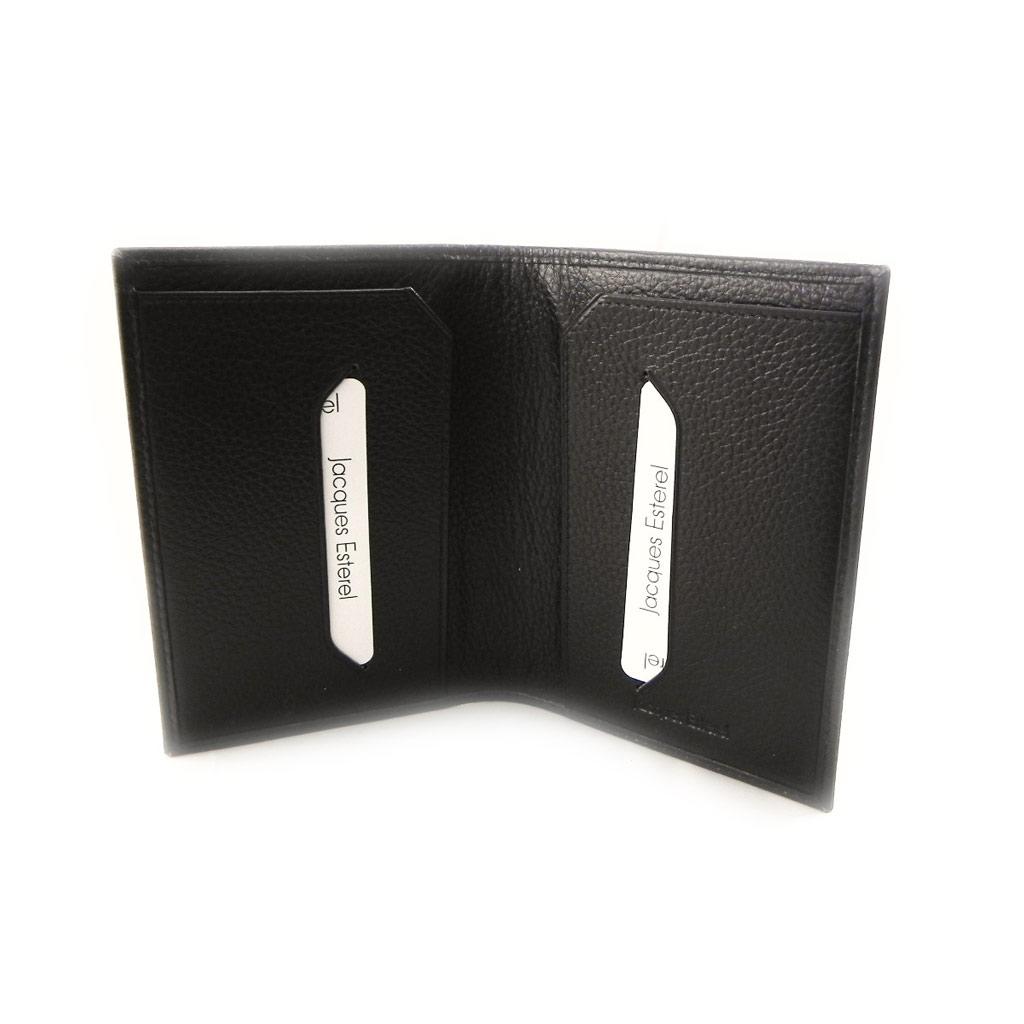 Porte papiers cuir \'Jacques Esterel\' marron - [I7209]