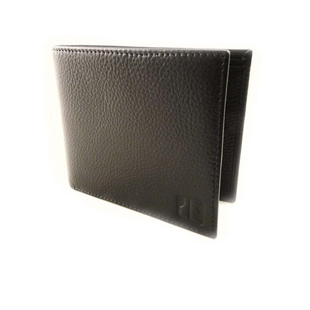 Portefeuille italien cuir \'Jacques Esterel\' marron - [I7219]