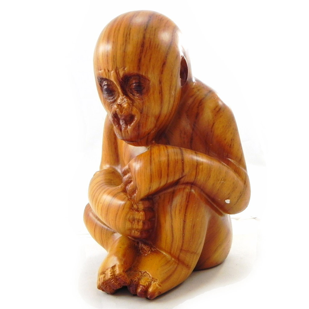 Figurine \'Bébé Gorille\' bois - [I7351]
