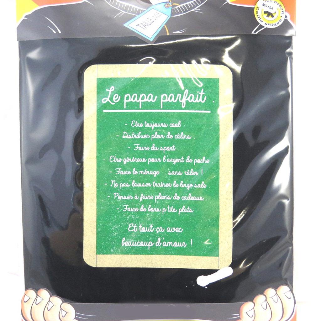 T-shirt \'Le Papa Parfait\' noir vert - [M5154]
