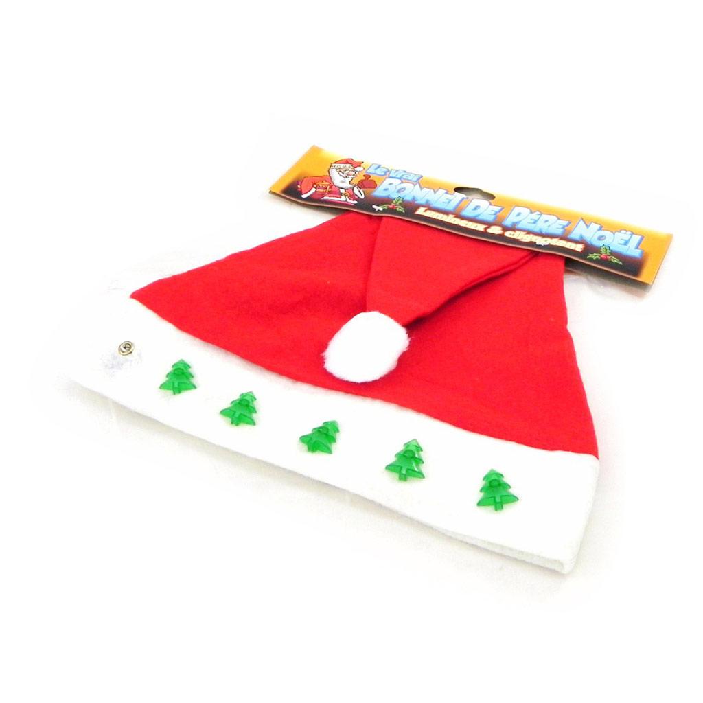 Chapeau \'Père Noël\' rouge blanc - [H7770]