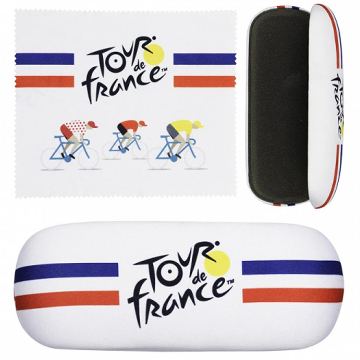 Etui à lunettes \'Tour de France\' bleu blanc rouge - 16x6x36 cm - [R1965]