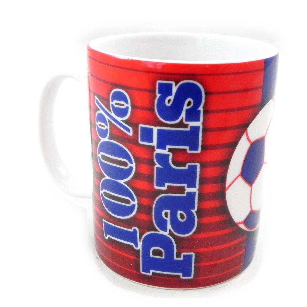 Mug porcelaine \'100% Paris\' rouge bleu - [H7777]