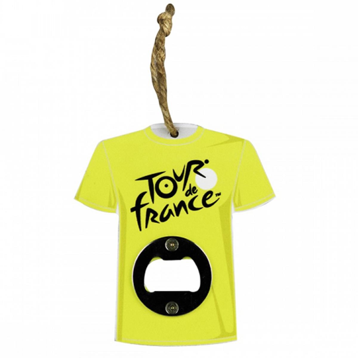 Décapsuleur bois \'Tour de France\' maillot jaune - 10x11 cm - [R1969]