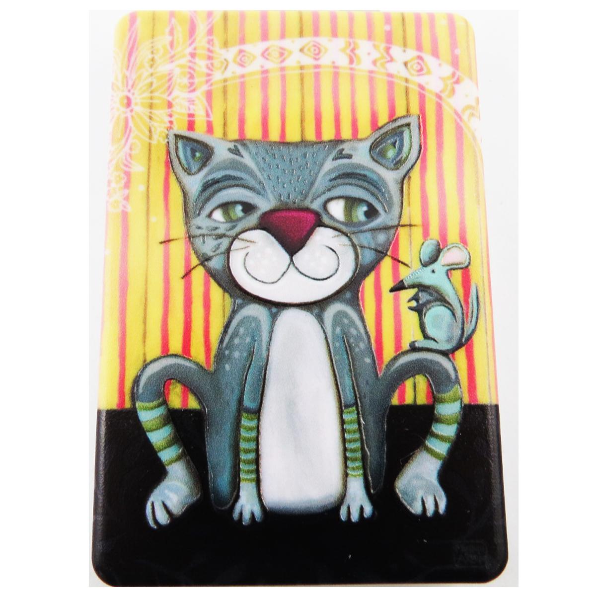 Miroir de poche \'Allen Designs\' gris (chat) - 85x55 cm - [R1972]